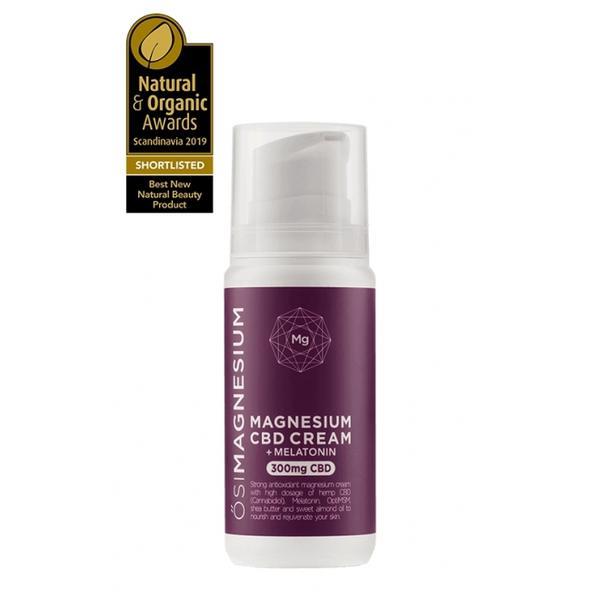 Crema de Noapte pentru Ten Puternic Antioxidanta cu Magneziu, CBD (Cannabis) si Melatonina Osi Magnesium, 300mg imagine