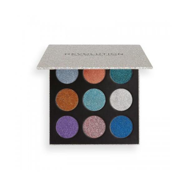 Paleta fard pleoape - Makeup revolution london pressed glitter palette illusion 13.5g poza