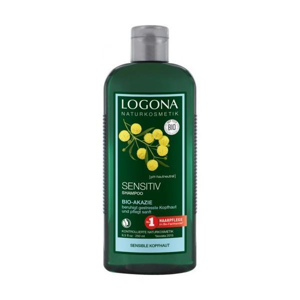 Sampon unisex, pentru scalp sensibil, cu acacia, logona bio 250 ml imagine