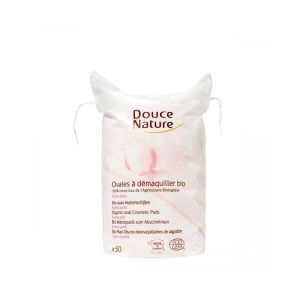 Dischete Demachiante Ovale Din Bumbac Organic Douce Nature 50buc esteto.ro