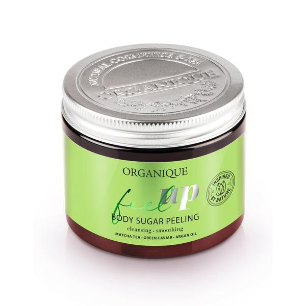 Exfoliant corp energizant, cu ceai matcha si ceai verde, Feel Up, Organique, 200 ml imagine produs