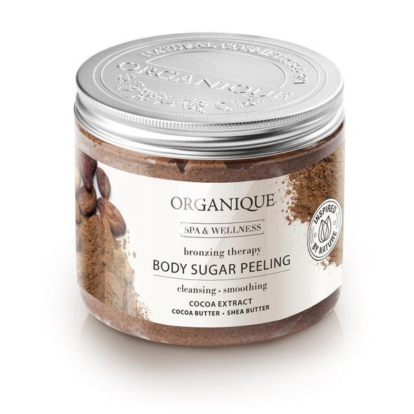 Exfoliant bronzant cu ciocolata si cristale de zahar, Organique, 200 ml imagine produs