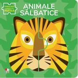 Animale salbatice. Prima mea carte cu puzzle, editura Litera