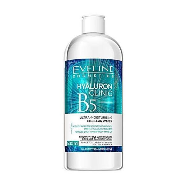 Apa micelara, Eveline Cosmetics Hyaluron Clinic, B5, 500 ml imagine produs