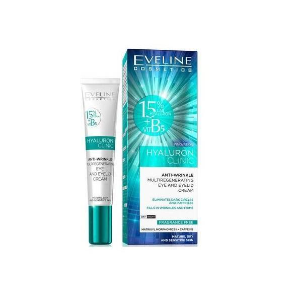 Crema de ochi anti-rid, Eveline Cosmetics, Hyaluron Clinic ,20 ml imagine produs