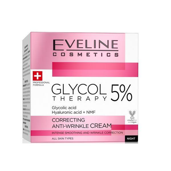 Crema anti-rid , Eveline Cosmetics, Glycol Therapy 5%, 50 ml imagine produs