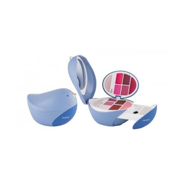Pupa Paletă Machiaj Birds 3 (Bleu) Pentru Ochi Și Buze 5.6g