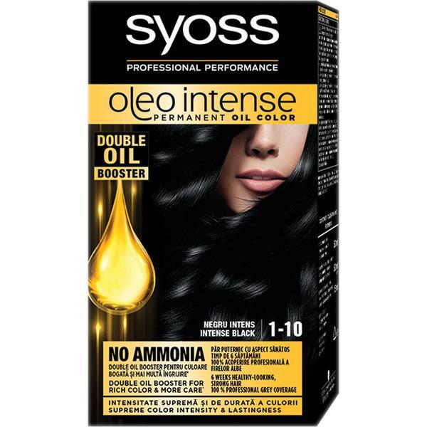 Vopsea de par, Syoss Oleo Intense, 1-10 Negru Intens imagine produs