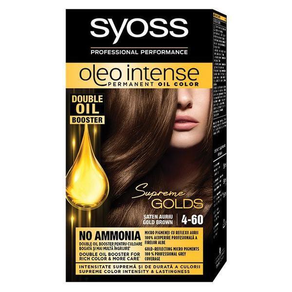 Vopsea de par, Syoss Oleo Intense, 4-60 Saten Auriu imagine produs