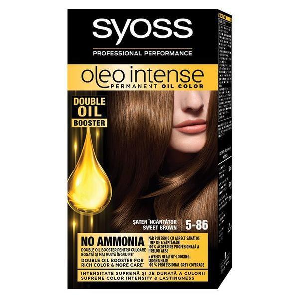 Vopsea de par, Syoss Oleo Intense, 5-86 Saten Incantator imagine produs
