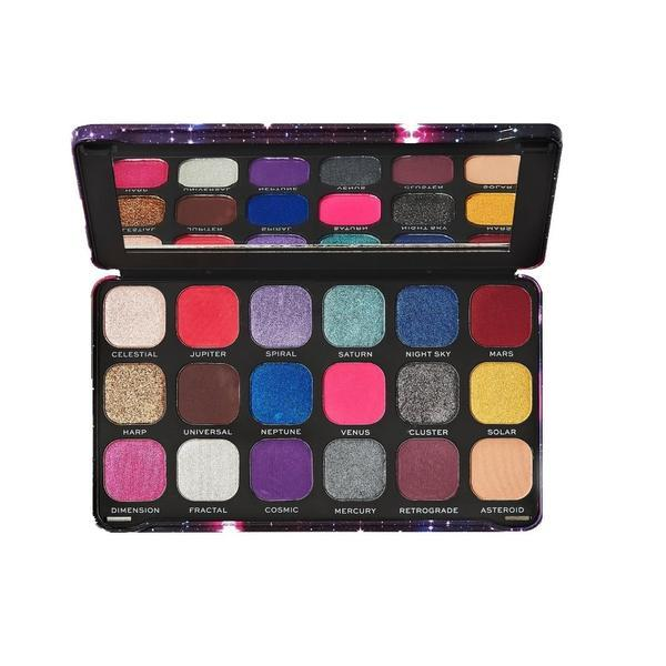 Paleta fard de pleoape, Makeup Revolution, Forever Flawless Constellation, 18 nuante poza