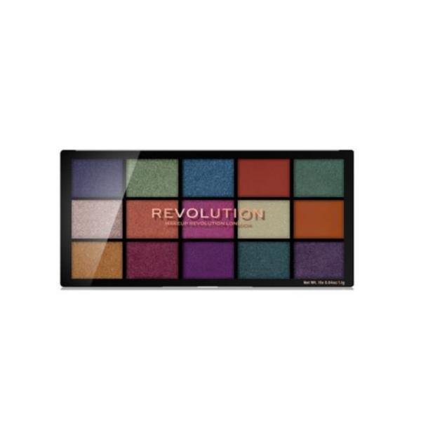 Paleta fard de pleoape, Makeup Revolution, Reloaded, Passion For Colour, 15 nuante, 10g poza