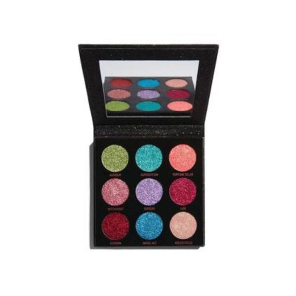 Paleta glitter de pleoape, Makeup Revolution, Pressed Glitter Palette, Abracadabra, 9 nuante poza