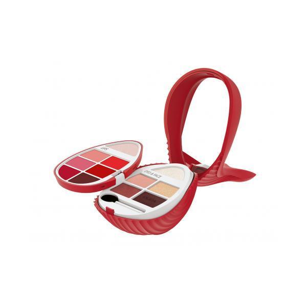 Paletă Machiaj Whale 2 Pupa (Roșu) Pentru Ochi si Buze 5.6g