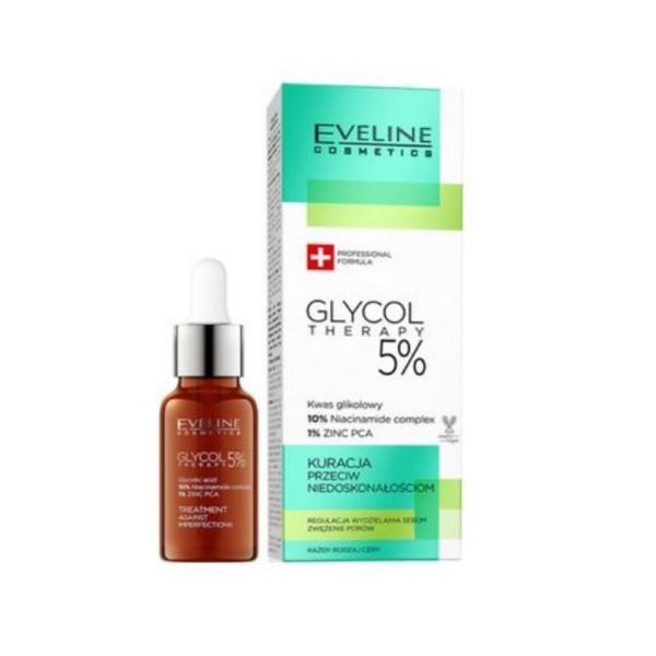 Ser pentru fata, Eveline Cosmetics, Glycol Therapy 5%, 18 ml imagine
