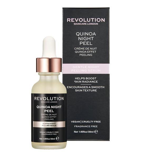 Ser pentru fata, Makeup Revolution, Skincare Gentle Night Peeling Serum, Quinoa Night Peel, 30 ml imagine
