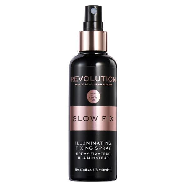 Spray Fixare Machiaj, Makeup Revolution, Glow Fix Illuminating Spray, 100 mL imagine produs