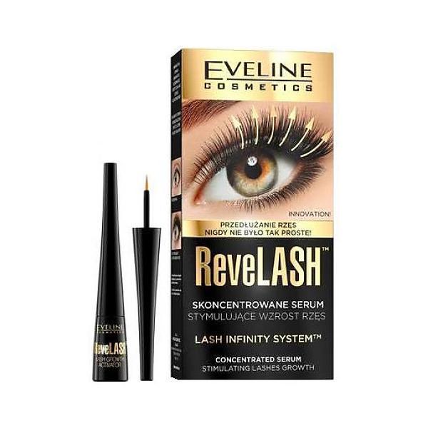 Ser pentru gene, Eveline Cosmetics, Revel Lashes Concentrated Serum, 3ml imagine