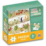 In lumea fructelor si a animalelor cu micul catel de usturoi. Puzzle gigant, editura Didactica Publishing House