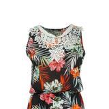rochie-lunga-negru-imprimeu-multicolor-flori-elastic-la-talie-s-m-2.jpg