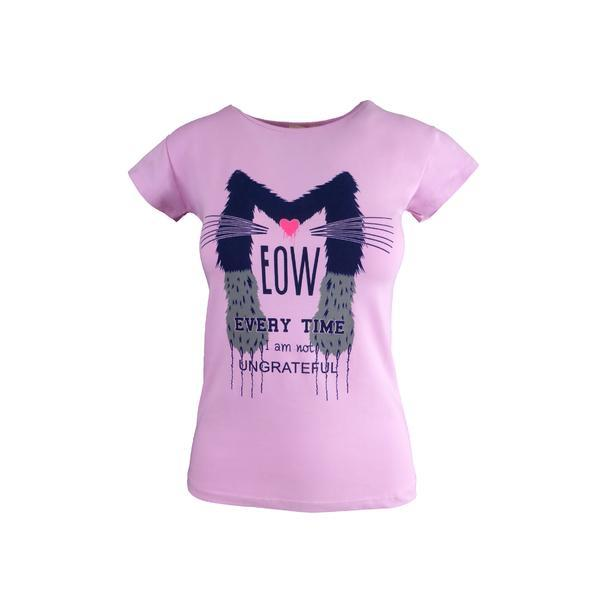 Tricou dama, Univers Fashion, roz, imprimeu 2, marime S-M
