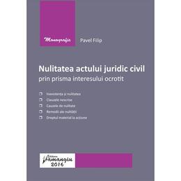 Nulitatea actului juridic civil prin prisma interesului ocrotit - Pavel Filip, editura Hamangiu