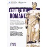Pandectele romane 1/2020, editura Wolters Kluwer