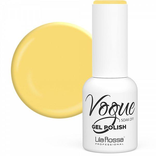 Oja Semipermanenta Vogue 019 Friendly Yellow Lucios Lila Rossa, 10 ml poza