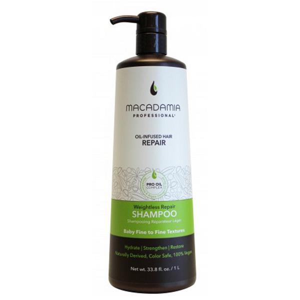 Sampon Hidratant pentru Par Fin - Macadamia Professional Weightless Repair Shampoo 1000 ml imagine