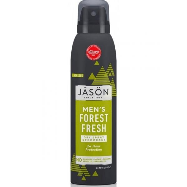 Deodorant Spray pentru Barbati Protectie 24h Forest Fresh Jason, 90g poza