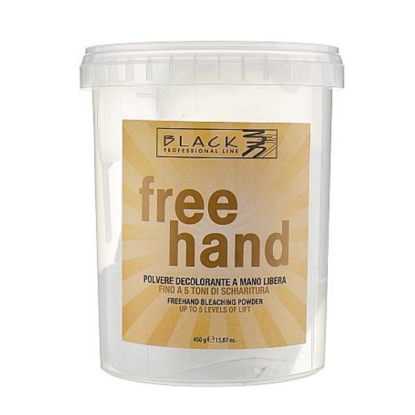 Pudra Decoloranta 5 Tonuri - Black Professional Line Powder For Free Hand Bleaching, 450g poza