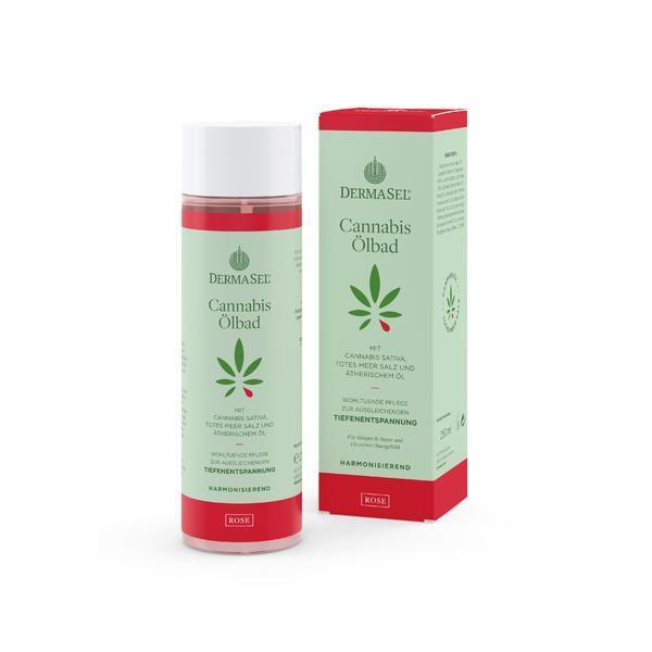 Ulei de baie cu ulei de cannabis, trandafir si minerale Dermasel 250 ml imagine produs