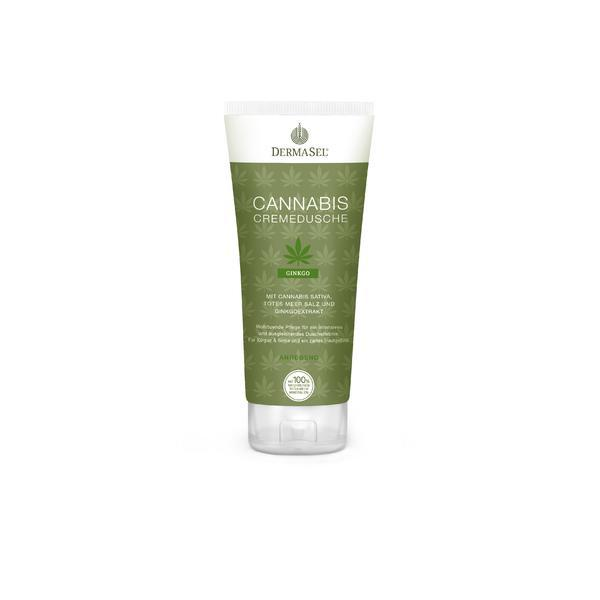 Crema de dus cu cannabis, ginkgo biloba si minerale Dermasel 200 ml imagine produs