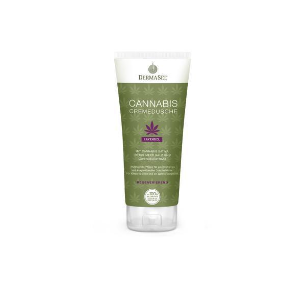Crema de dus cu cannabis, lavanda si minerale Dermasel 200 ml imagine produs