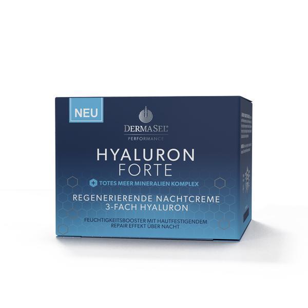 Crema de noapte faciala regeneranta cu acid hialuronic forte si minerale Dermasel 50 ml