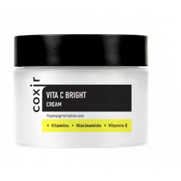 Crema de Fata pentru Uniformizare Culoare si Luminozitate Coxir Vita C Bright, 50 ml