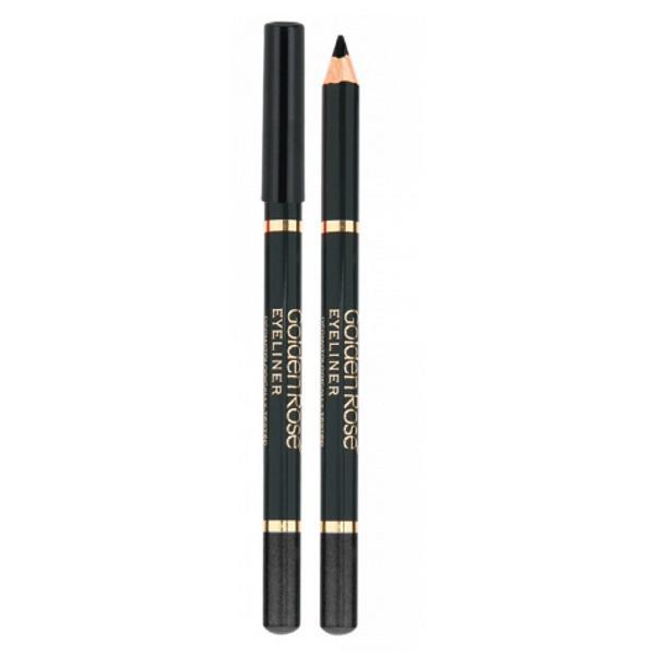 Creion de Ochi Wooden Golden Rose, negru imagine