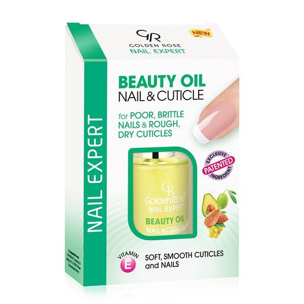 Ulei pentru Unghii si Cuticule Beauty Oil Golden Rose, 11ml imagine produs