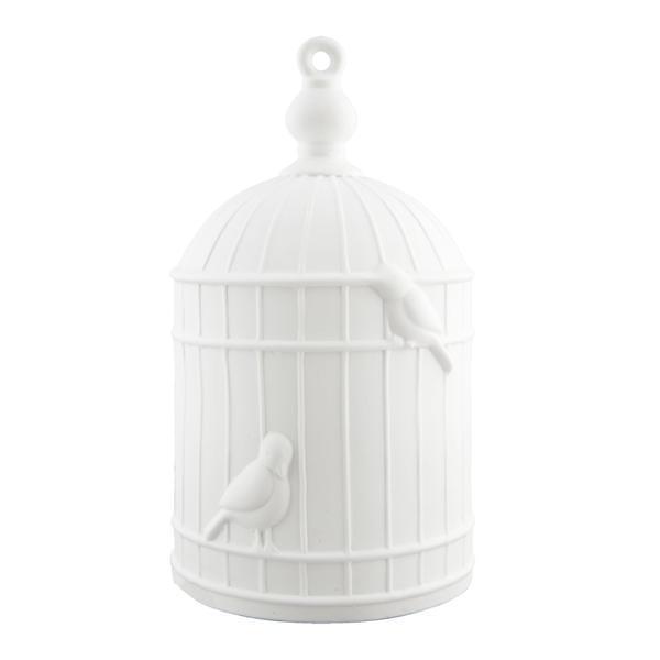 Veioza decorativa ceramica alba model Colivie Ø16×28 cm E27 max