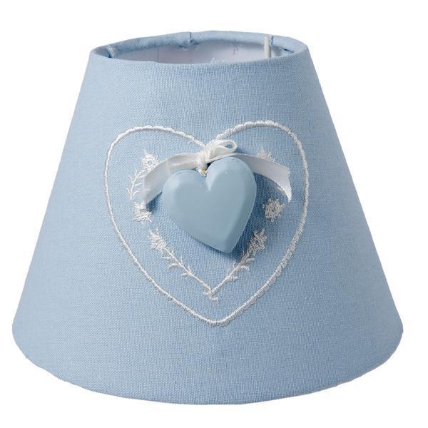 Abajur veioza textil albastru Cuore Ø17×13 cm