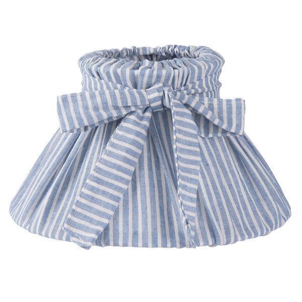 Abajur veioza textil albastru alb Ø22×13 cm E14