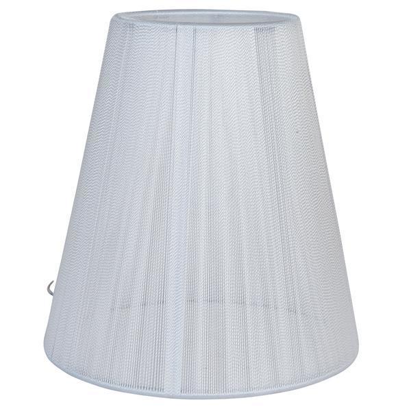 Abajur veioza textil alb Ø14×15 cm E14