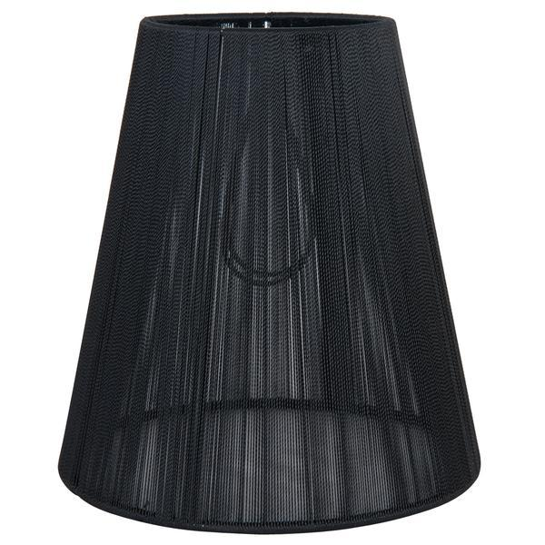Abajur veioza textil negru Ø14×15 cm E14
