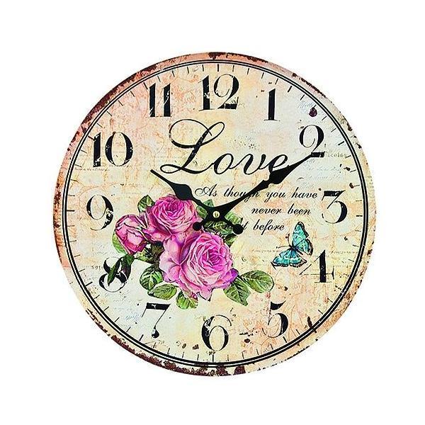 Ceas perete lemn Love 34cm – Decorer