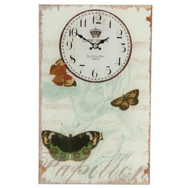 Ceas perete metal Butterfly 25 x 40 cm – Decorer