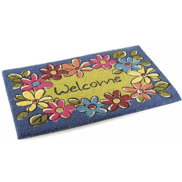 Covoras Welcome Flowers 60 cm x 40 cm – Decorer