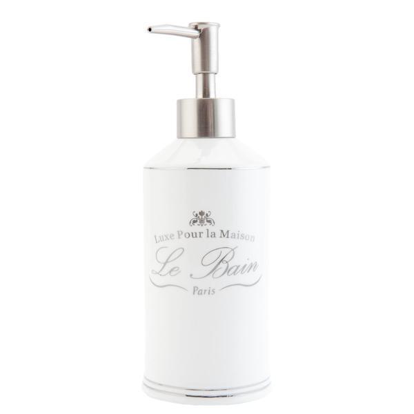 Dispenser ceramica alba pentru sapun Le Bain Diametru 7×20 cm 0,4 L