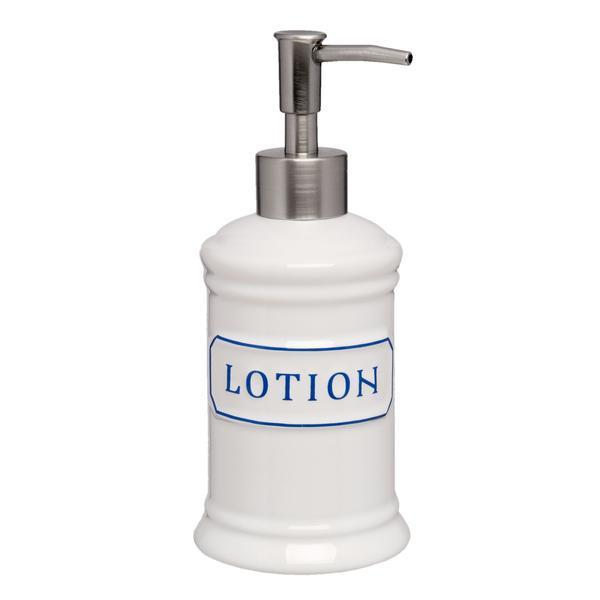 Dispenser ceramica alba pentru sapun Lotion Diametru 8×18 cm 0.4 L