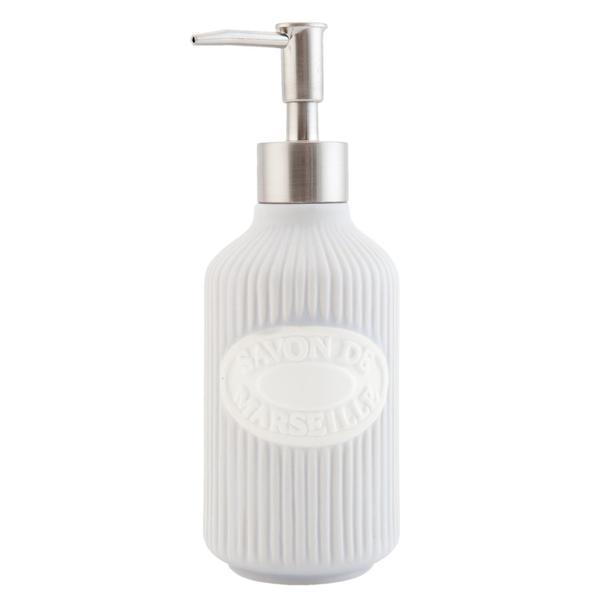 Dispenser ceramica gri pentru sapun Savon de Marseille Diametru 7×19 cm 0,35 L