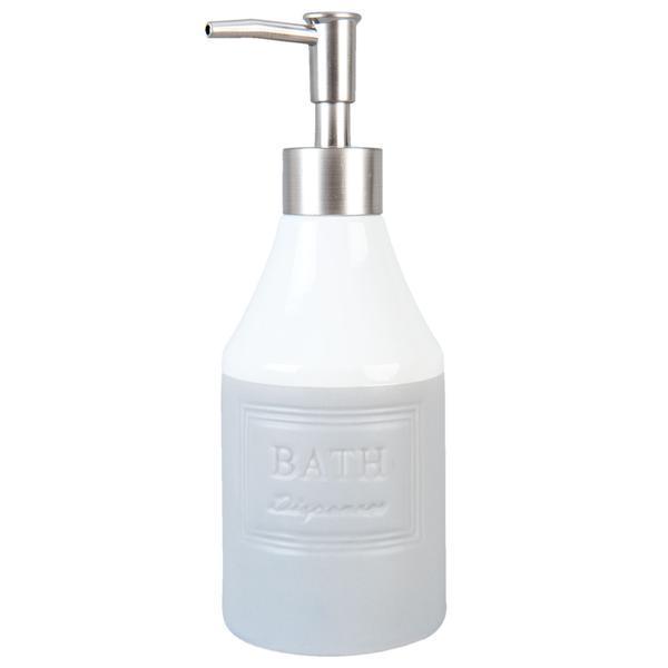 Dispenser ceramica gri pentru sapun Bath Diametru 8×20 cm 0,35 L